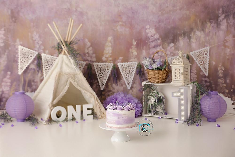 Lavender/Boho Cake Smash