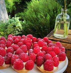 Raspberry Fruit tarts
