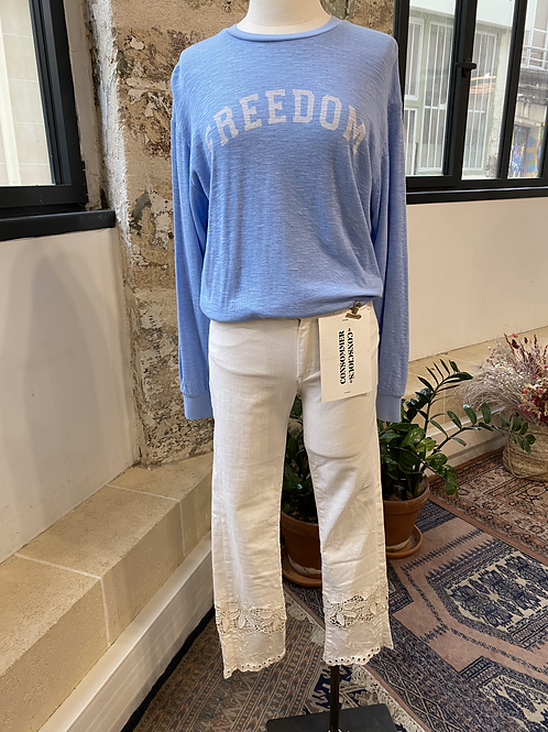 "MKT STUDIO - Sweat bleu ""freedom"" - T.XS"