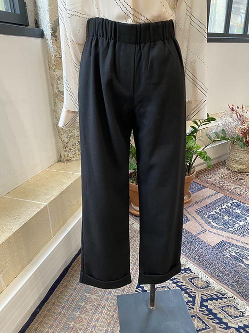 SUNCOO - Pantalon noir à pinces revers bas - T.2
