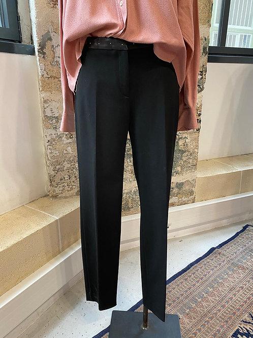 THE KOOPLES - Pantalon noir taille cuir - T40
