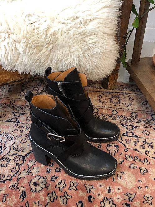 ALL SAINTS - Boots rangers noires - T40