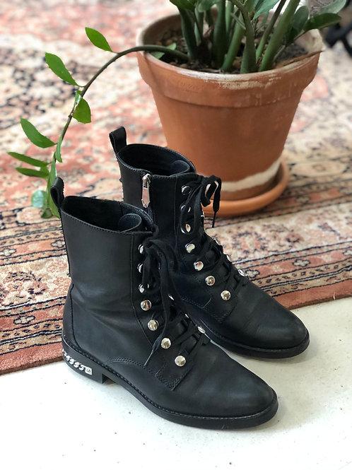 WHAT FOR - Boots noires en cuir - T37