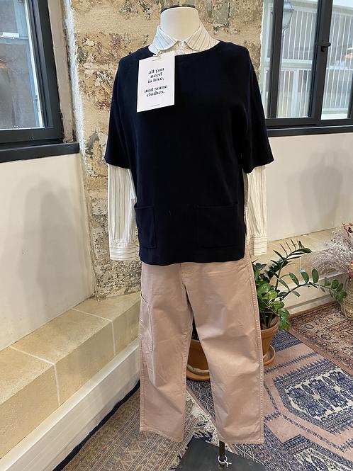 COS - Pantalon beige en coton poches plates - T.34
