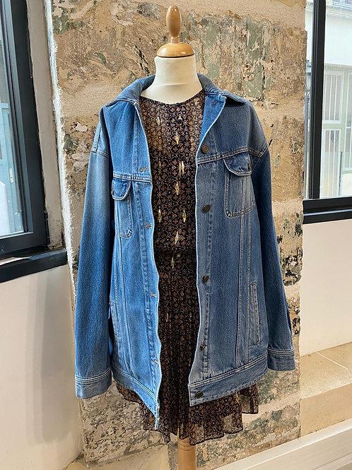 SAINT LAURENT - Veste bleue en jean oversize - TL