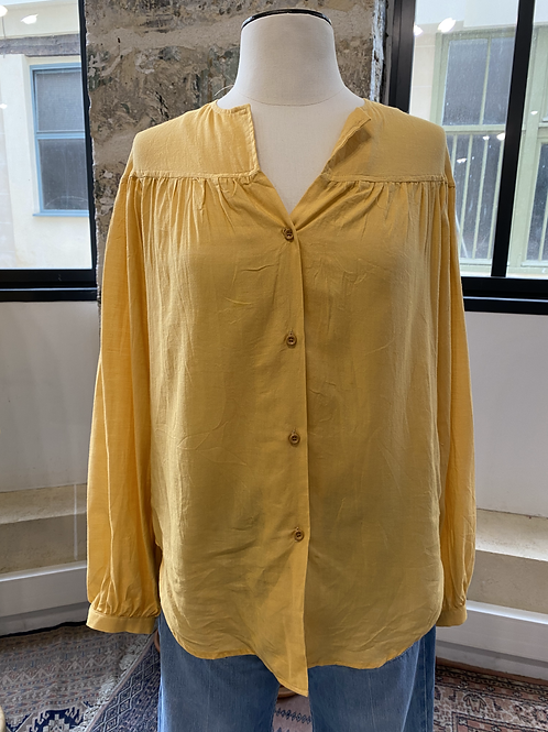 TINSELS - Chemise jaune col rond - T.0