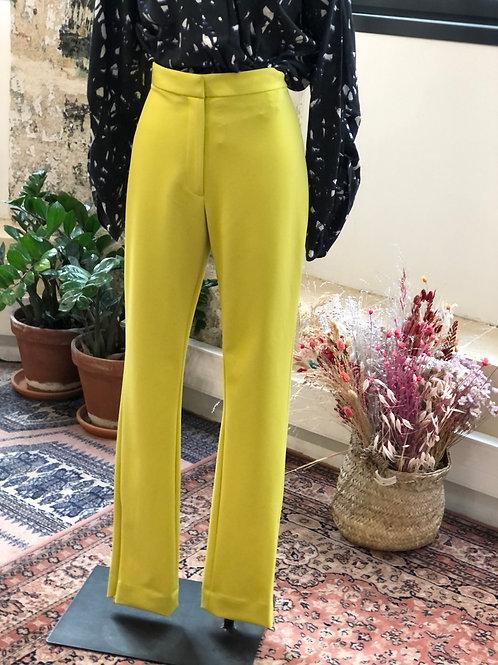 &OTHERSTORIES - Pantalon jaune fluo à pinces - T.40