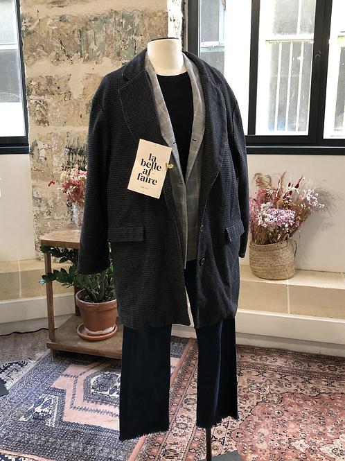 LEVI'S - Jean bleu coutures camel effiloché bas 501 - T.36