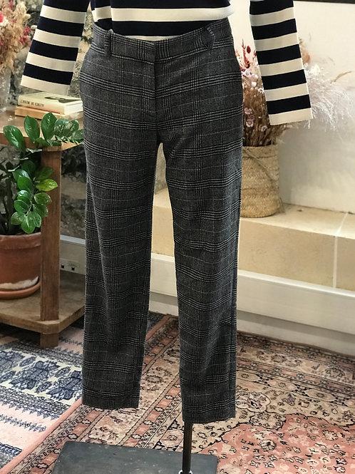TARA JARMON - Pantalon à carreaux en laine mélangée - T.36