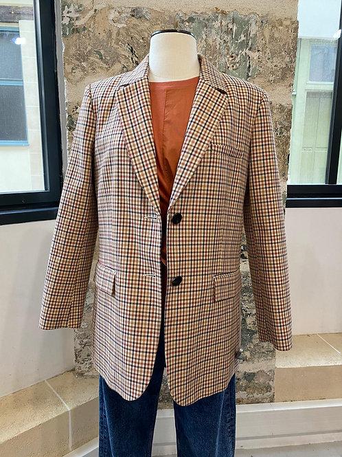 CLAUDIE PIERLOT - Veste blazer petits carreaux - T38