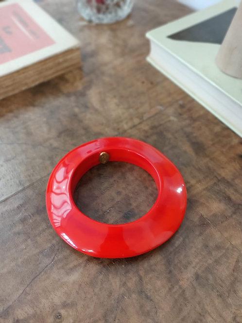 Bracelet jonc rouge vermeil - DOMINIQUE DENAIVE
