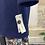 Thumbnail: MONOPRIX - Manteau bleu marine en laine - T.1