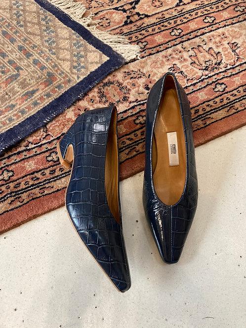 MIISTA - Escarpins bleus vernis - T36