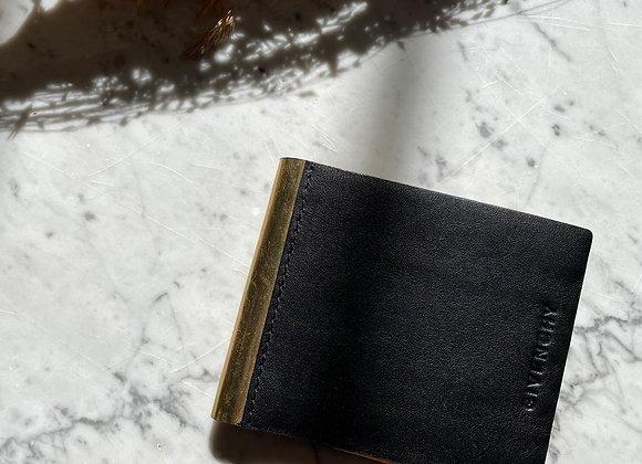 GIVENCHY - Portefeuille noir int doré