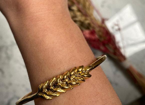 AURELIE BIDERMANN - Bracelet doré épi de blé