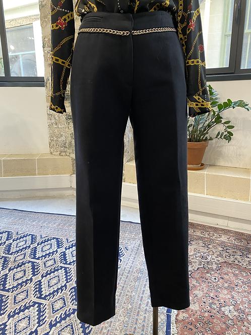 CLAUDIE PIERLOT - Pantalon noir à pinces détail maillons - T36