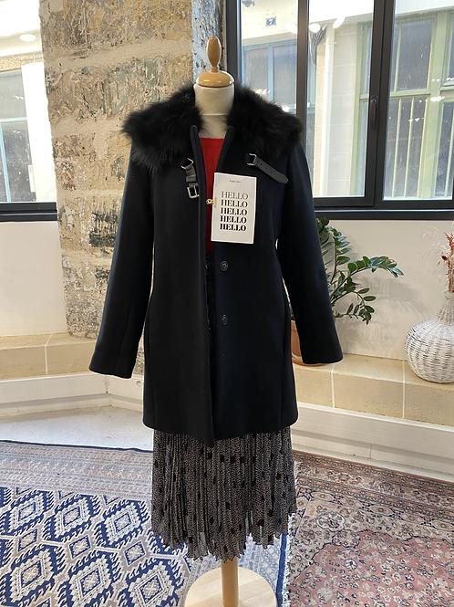 MAJE - Manteau mi-long en laine et cachemire - T40
