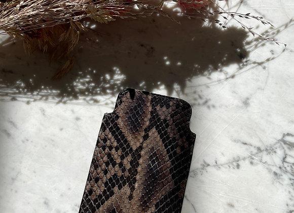 Pochette de téléphone noir en python
