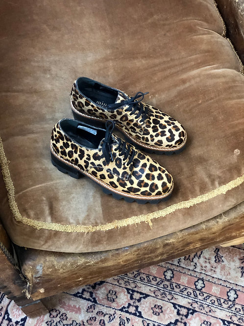 MINELLI - Derbies léopard en poulain - T36