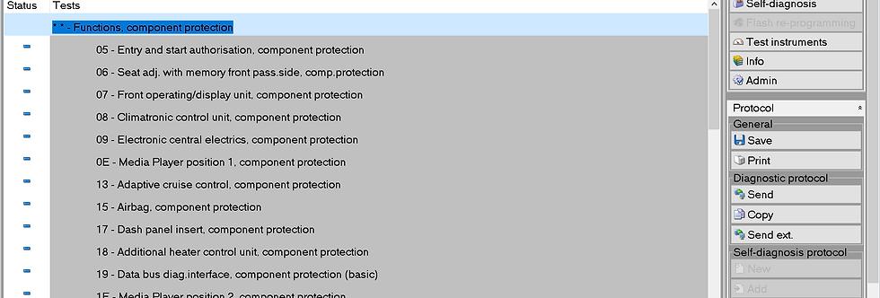 Component Protection Removal | Audi | Bentley | MAN | Seat | Skoda | VW | VAG
