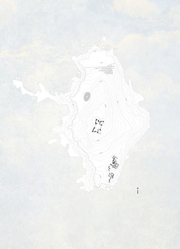 implantação - localização da capela na ilha