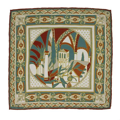 Assisi Pocket Square - Terra