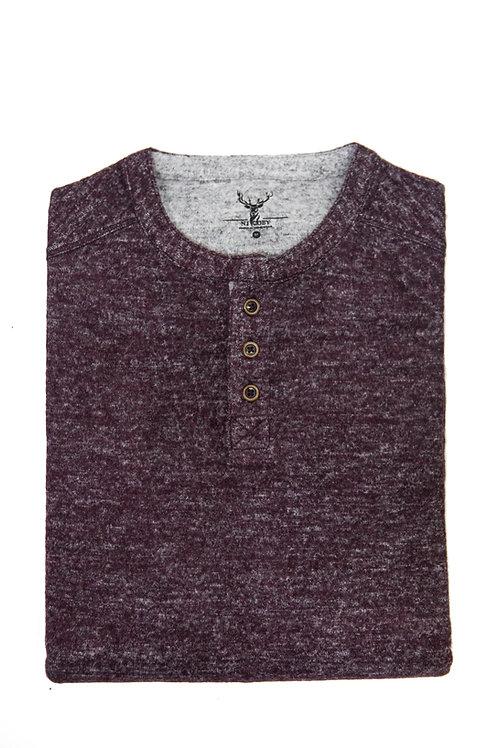 Burgundy Button Knit