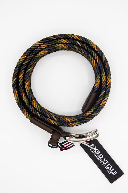 Paolo Vitale Green Woven Belt