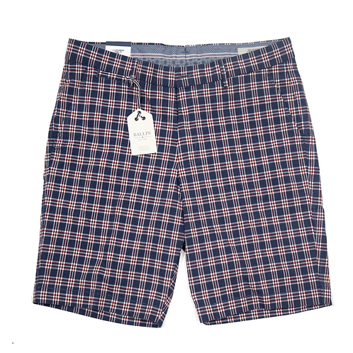 Ballin Check Shorts - Navy
