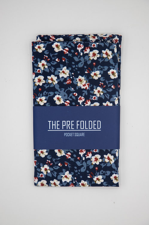 Pre Folded Pocket Square - Flower