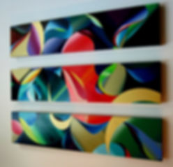 contempo life triptych  horizontal  12in