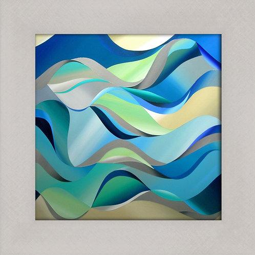 Studioline Fine Art  Print Aqua Wave Silver