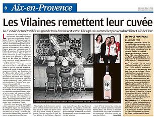 Les Vilaines dans La Provence Ed.Aix 27032017