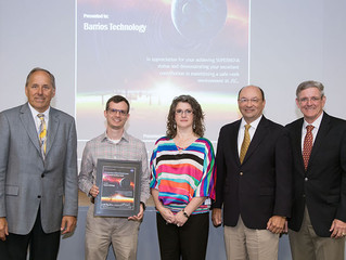 Space Center's Super NOVA Safety Award is Presented to Barrios Technology