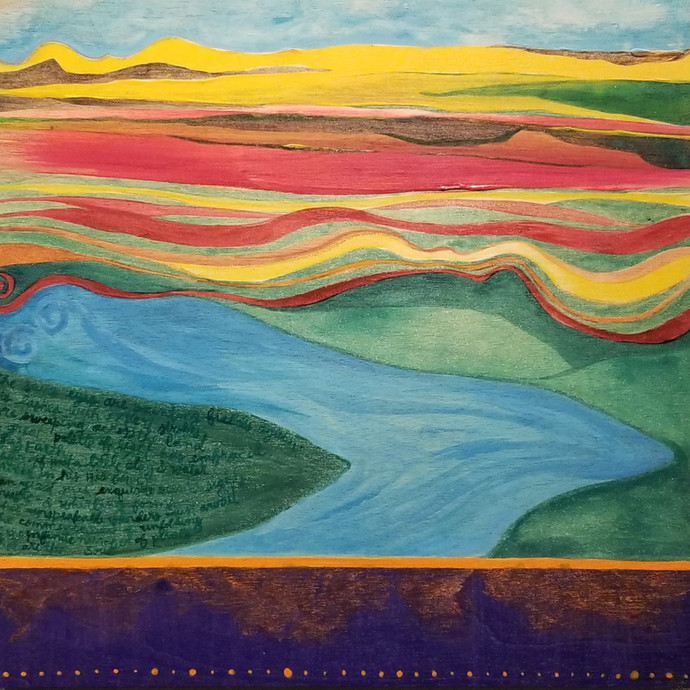 From Painted Fields She Flows | Artis Moon