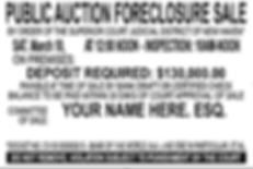 CT Foreclosure Signs