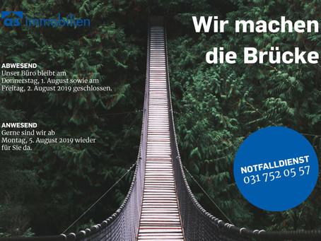Wir machen die Brücke!