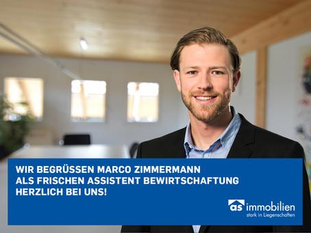 Herzlich willkommen Marco Zimmermann!