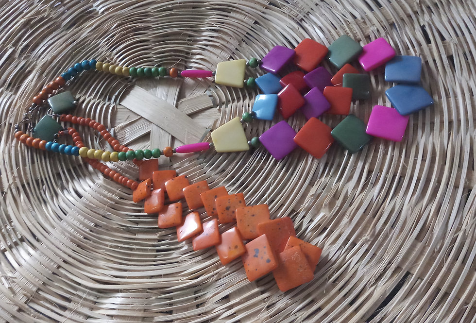 Multi Colour Handcrafted Thread Necklace