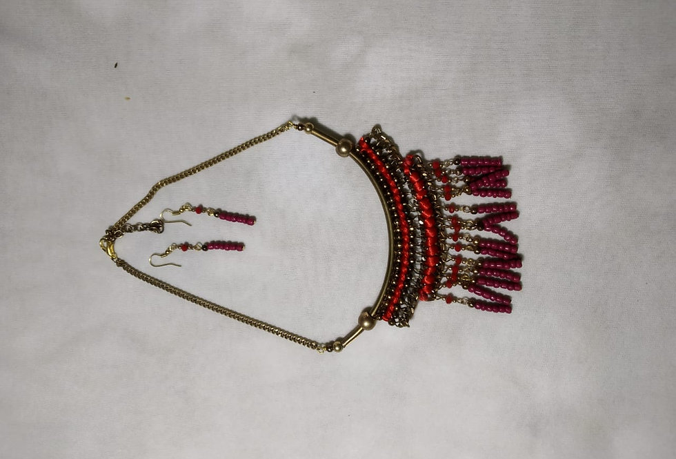 Handcrafted Red Pearl Jewellery