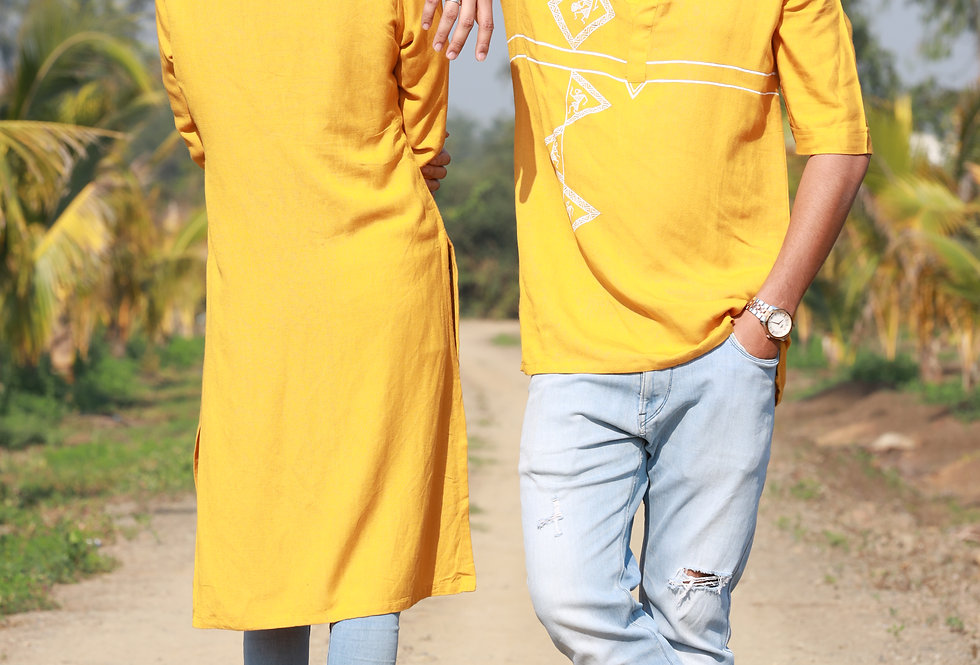 Turmeric Yellow Men's Kurta (Couple Edition)