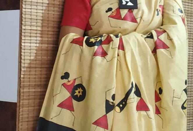 Warli Print Saree