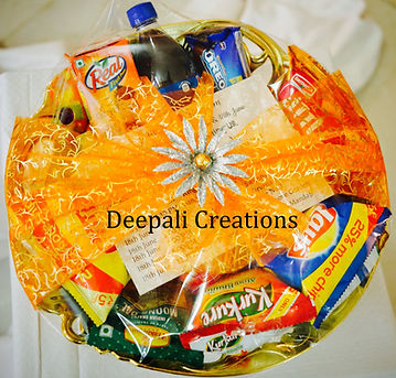 Room Hampers By Deepali Creations. Consisting of various refreshments for the Guests.