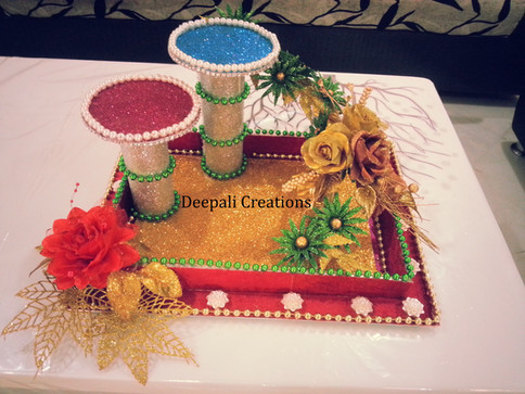 Ring Ceremony Tray Stands By Deepali Creations.