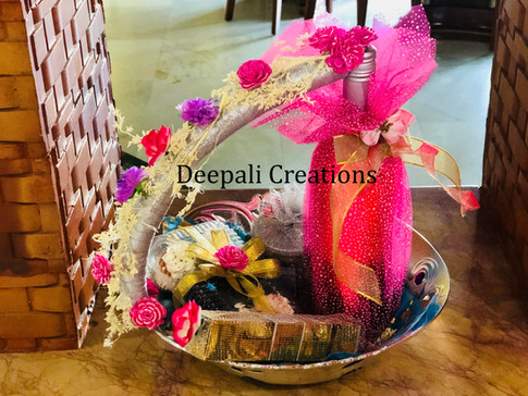 Wine Bottle Beatifully Packed and Decorated By Deepali Creations