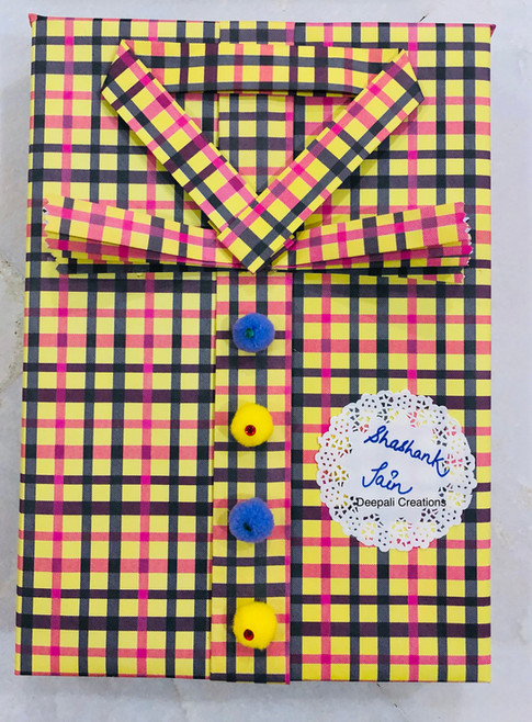 Shirt Style Gift Packing By Deepali Creations