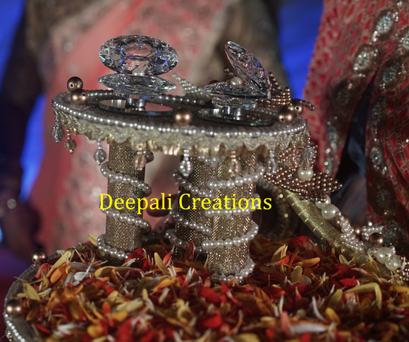 Ring Ceremony Tray Golden By Deepali Creations