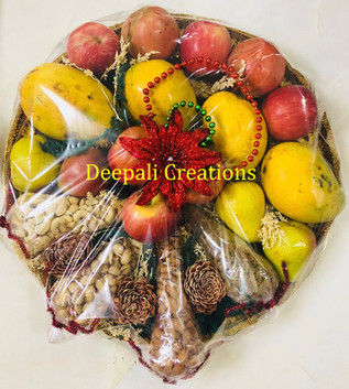 Fruits Packing for Engagement by Deepali Creations