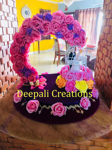 Ring Ceremony Tray Red Roses By Deepali Creations.