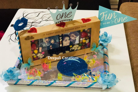 Chocolate Personalised Tray By Deepali Creations